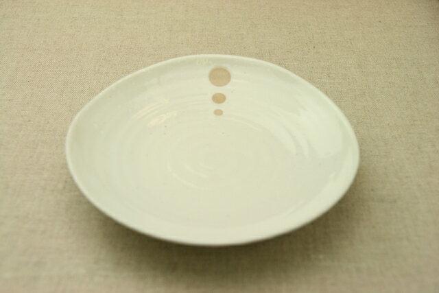 シンプルドット 水玉 白/黒 18cmプレートMLMより大きめの中皿、6寸取り皿【 02P18Jun16 】