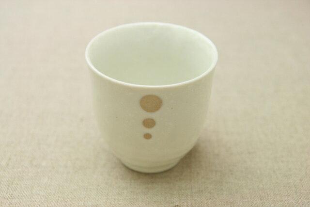 シンプルドット水玉 白/黒 ほっこりつかいやすい湯呑み/湯飲み/ゆのみ【 02P18Jun16 】