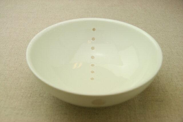 シンプルドット水玉 白/黒 ほっこり大きめ平麺鉢/丼/盛り鉢/煮物鉢/大きめ/ボウル【 02P18Jun16 】