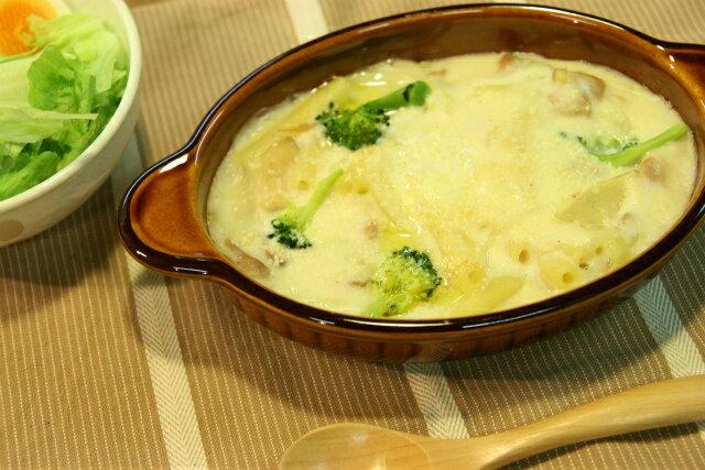 グラタン皿 楕円 アメ色 ブラウン 耳付 日本製 茶色 耐熱食器 耐熱皿 オーバル 一人用