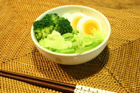 シンプルドット水玉白/黒ほっこり中くらいボウルM/小鉢/4.5寸/煮物鉢