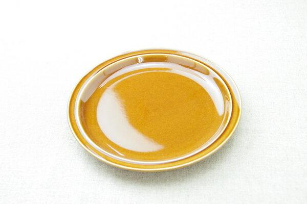 アメ色 丸皿 19cmラウンドプレートM ケーキ皿や取り皿におうちでカフェご飯が楽しめる、 ほっこり可愛い食器