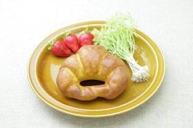 キャラメル色丸皿23cmラウンドプレートLパスタ皿やカレー皿にもおうちでカフェご飯が楽しめる、ほっこり可愛い食器