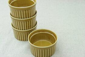 キャラメル丸いココットサイズL(9cm)プリン・スフレ・コキールにもディップ・ジャム・トッピングなどでもgood♪白い食器と相性抜群安心・安全な日本製オーブンOK