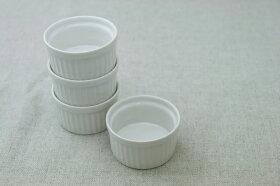 アイボリー丸いココットサイズS(7cm)/プリンカップ/スフレコキール/グラタン/食器/日本製/耐熱白い食器と相性抜群安心・安全な日本製オーブンOK