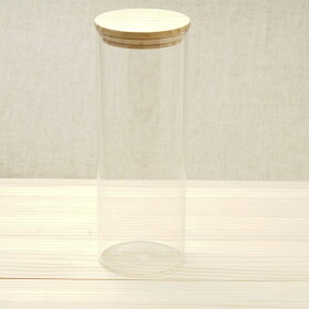 耐熱ガラスキャニスターLサイズ1700ml木蓋おしゃれ密封保存瓶ストッカー保存容器パスタ入れパスタケースパスタポット収納