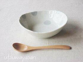 ブルードット粉引調/水玉/ボウルM/小鉢/デザート/シンプル/ナチュラル