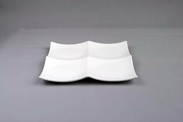 ピュアホワイト/クアトロ2×2/スクエアプレートM1枚/4つ仕切り皿/白い食器/ランチプレート【 532P19Apr16 】