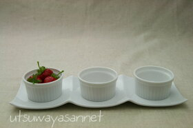 【35%off】白い食器ピュアホワイト3×1手頃なサイズで扱いやすい長方形3つ仕切りプレート1枚【salesaletoukai005】