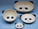 パンダの陶器4点食器セット楕円ボウル茶碗小皿箸置ベビーや子どもに!日本製ぱんだ(子供)出産祝い 誕生祝い 入園祝い お食い初めに…