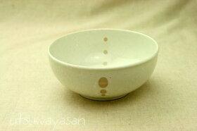シンプルドット水玉白/黒ほっこりちょっと大きめボウルL/5.0寸/小鉢/煮物鉢