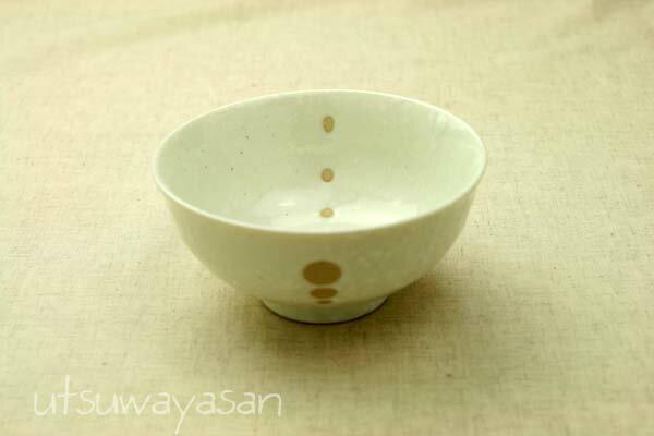 シンプルドット水玉 白/黒 ほっこりつかいやすいお茶碗/おちゃわん/飯碗/和食器【 02P18Jun16 】