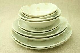 【送料無料】ベージュドット/水玉/アイボリーボウルM2L2プレートM2L2LL2/5種10個セット/皿/小鉢/おうちカフェ