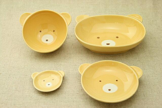 こぐまの陶器4点セット楕円ボウル茶碗小皿箸置ベビー食器に!安心な日本製ベアくま(子供)出産祝い、誕生祝い、入園祝いに【楽ギフ_包装】【楽ギフ_のし】【楽ギフ_メッセ入力】【 532P19Apr16 】