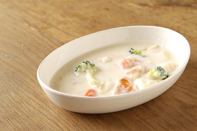 アイボリー オーバル楕円ボウルMお子様のカレー皿やシチュー皿、パスタ皿として日本製のナチュラル陶器でほっこりおうちカフェ【 02P18Jun16 】