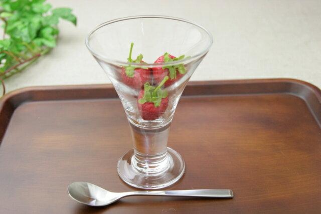 パフェグラス H-AX ポーズ 中 ガラス食器 サンデー デザート カフェ パフェ ガラス シンプル