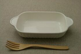 白耐熱長角グラタン皿