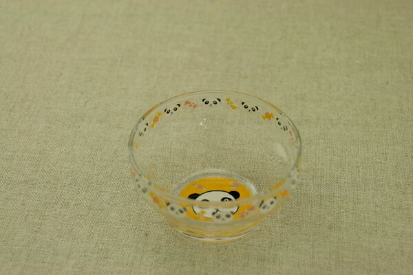 パンダ ガラスデザートボウル 日本製・口部強化で小さなベビー・お子様にも安心なかわいいガラス食器  ぱんだ【 02P18Jun16 】