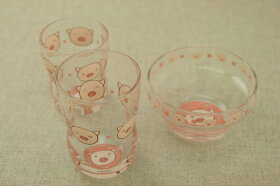 コブタガラスデザートボウル日本製・口部強化で小さなベビー・お子様にも安心なかわいいガラス食器こぶた