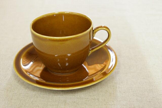アメ色 コーヒーカップ&ソーサー1客/日本製/おうちカフェ/ほっこり/ナチュラル