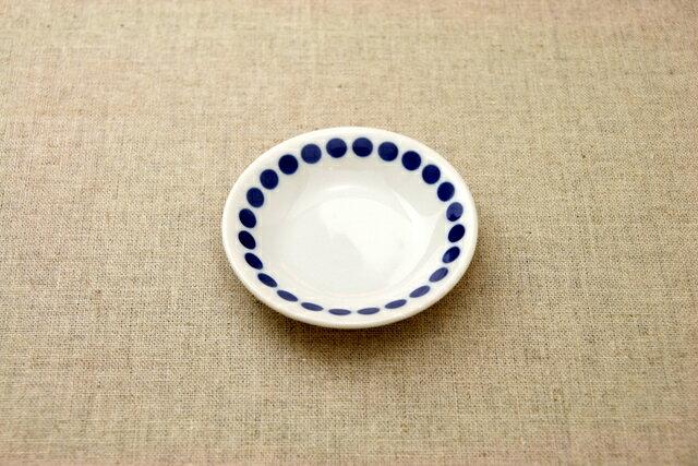 水玉 ドット柄の豆皿 薬味皿 醤油皿にピッタリ プレート10cm小皿 和食器 群青5柄 おしゃれ