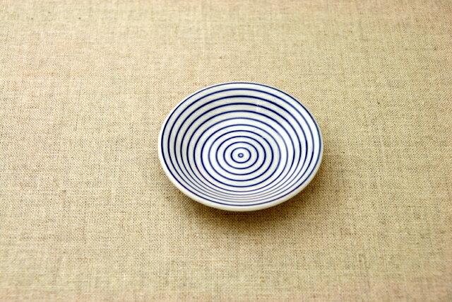 渦 豆皿 プレート 薬味皿 醤油皿にピッタリ 10cm小皿 和食器 群青5柄 おしゃれ