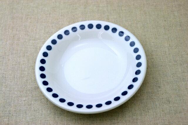水玉 ほっこりつかいやすいドット柄の16.5cm取り皿 デザート・ケーキ皿にも プレート中皿 和食器 日本製【 02P18Jun16 】