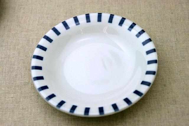 十草(ストライプ) ほっこりつかいやすい16.5cm取り皿 デザート・ケーキ皿にも プレート中皿 和食器 日本製 【 02P18Jun16 】