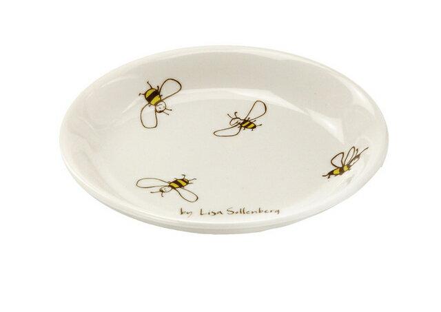 北欧たのしいデザイン キルメルール 小皿1枚 *ハチ* 蜂 プレート 取り皿 日本製