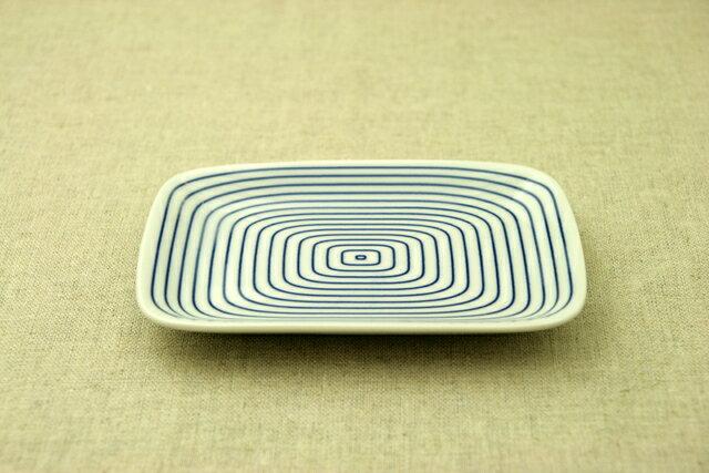 渦 ほっこりつかいやすい四角い取り皿デザート・ケーキ皿にもスクエアプレート 長角皿 和食器 日本製 【 02P18Jun16 】