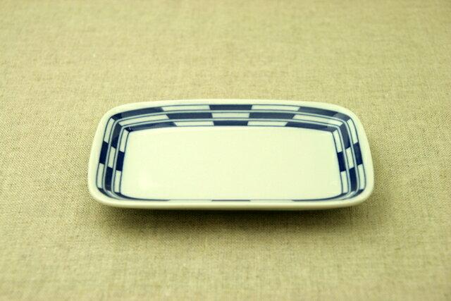 市松(チェック) ほっこりつかいやすい四角い取り皿デザート・ケーキ皿にもスクエアプレート 長角皿 和食器 日本製【 02P18Jun16 】