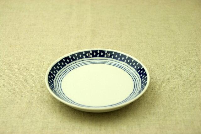 蒼露(そうろ) 取り皿 青と白の反らし型4.5皿 ドロップ ボーダー 小皿 和食器 日本製 カネ定 蒼の器 【 02P18Jun16 】