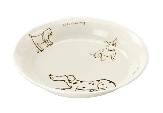 北欧たのしいデザイン キルメルール パスタプレート1枚 *イヌ* 犬 カレー皿 日本製