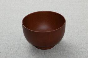汁椀木目ライトブラウン茶シンプル味噌汁やスープにも電子レンジ・食洗機対応樹脂製お椀日本製
