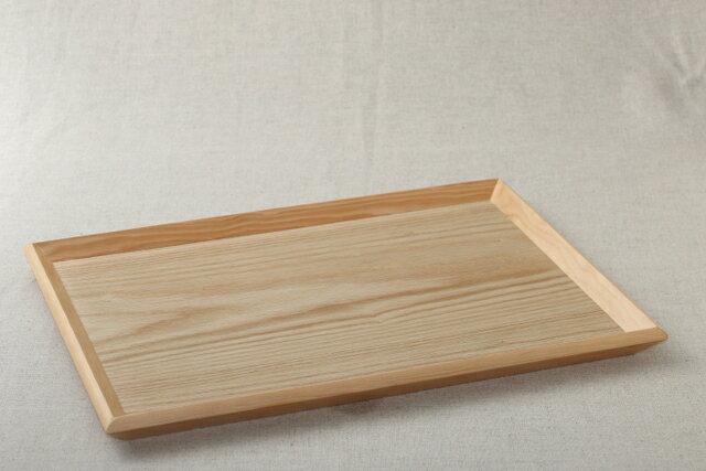 ナチュラル 木製 トレー 角形お盆 トレイ 一膳盆 ランチョンマット おうちカフェに