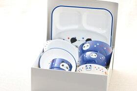 お食い初め食器セットハグミーパンダ日本製ぱんだ出産祝い、誕生祝い、入園祝いに山中漆器7点子供食器セット樹脂製