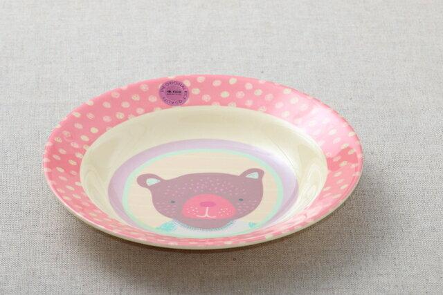 rice キッズメラミン ボウル ガールズ ハッピー キャンパー カレー皿 パスタプレート 子供食器