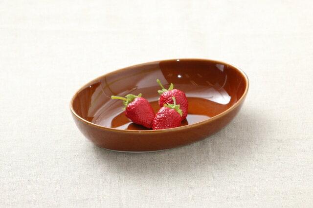 アメ色 オーバル楕円ボウルMお子様のカレー皿やシチュー皿、パスタ皿として日本製のナチュラル陶器でほっこりおうちカフェ【 02P18Jun16 】