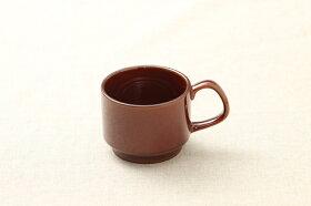 アメ色コーヒーカップマグカップスープカップスタッキング日本製おうちカフェほっこりナチュラル