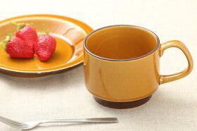 キャラメル色コーヒーカップマグカップスープカップスタッキング日本製おうちカフェほっこりナチュラル