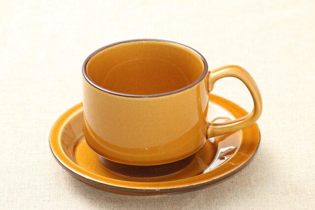 キャラメル色 コーヒーカップ&ソーサー スタッキング 日本製 おうちカフェ ほっこり ナチュラル おしゃれ