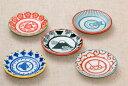 和文様5柄 豆皿5柄セット(富士山 唐草 千鳥 梅 矢羽) 薬味皿 プレート 小皿5枚 和食器