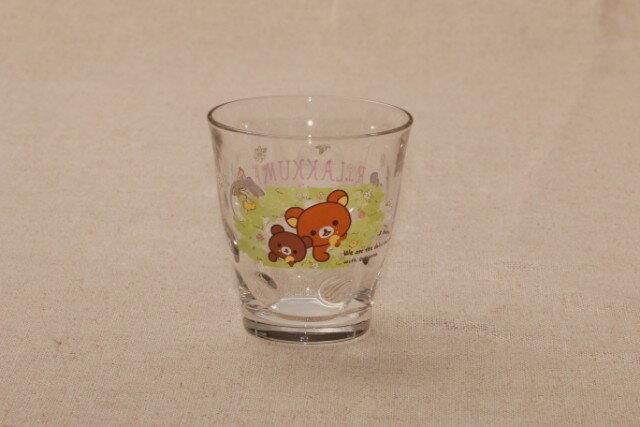 リラックマ ガラスタンブラー 花 185cc 1個水玉 ドット 日本製のガラスグラス 子供用にも