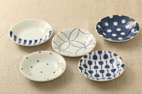 豆絞りほっこりつかいやすい豆皿藍染薬味皿醤油皿にピッタリプレート10cm小皿和食器