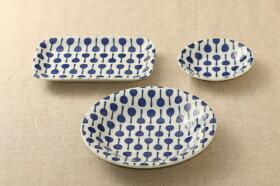 マラカスほっこりつかいやすい四角い取り皿デザート・ケーキ皿にもスクエアプレート長角皿和食器グンジョー5柄B日本製