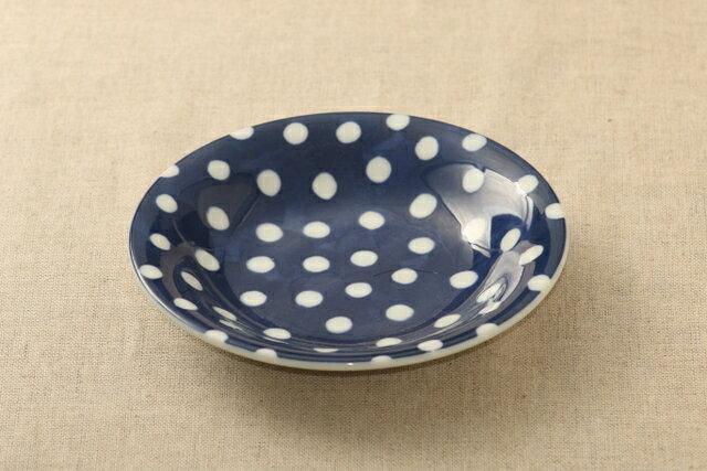 豆絞り ほっこりつかいやすい 16.5cm取り皿 デザート・ケーキ皿にも プレート中皿 和食器 日本製 グンジョー5柄B