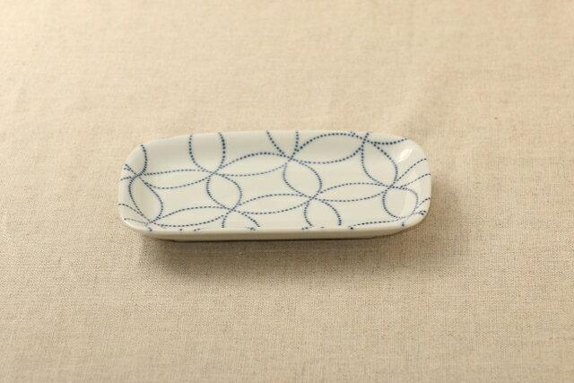 七宝 ほっこりつかいやすい四角い取り皿デザート・ケーキ皿にもスクエアプレート 長角皿 和食器 グンジョー5柄B 日本製