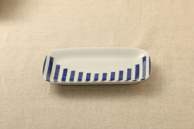 グラフ ほっこりつかいやすい 四角い取り皿デザート・ケーキ皿にもスクエアプレート 長角皿 和食器 グンジョー5柄B 日本製