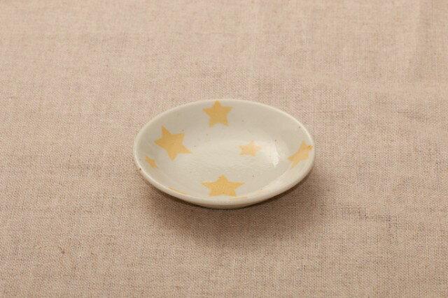 豆皿 スター パステル5柄薬味皿 醤油皿にピッタリ プレート星 9cm 小皿 和食器 おしゃれ