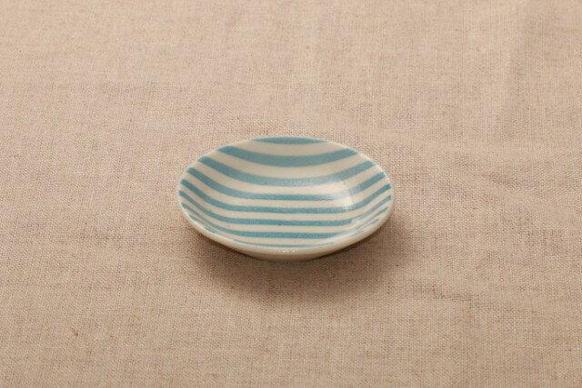 豆皿 ボーダー パステル5柄薬味皿 醤油皿にピッタリ プレートストライプ 9cm 小皿 和食器 おしゃれ